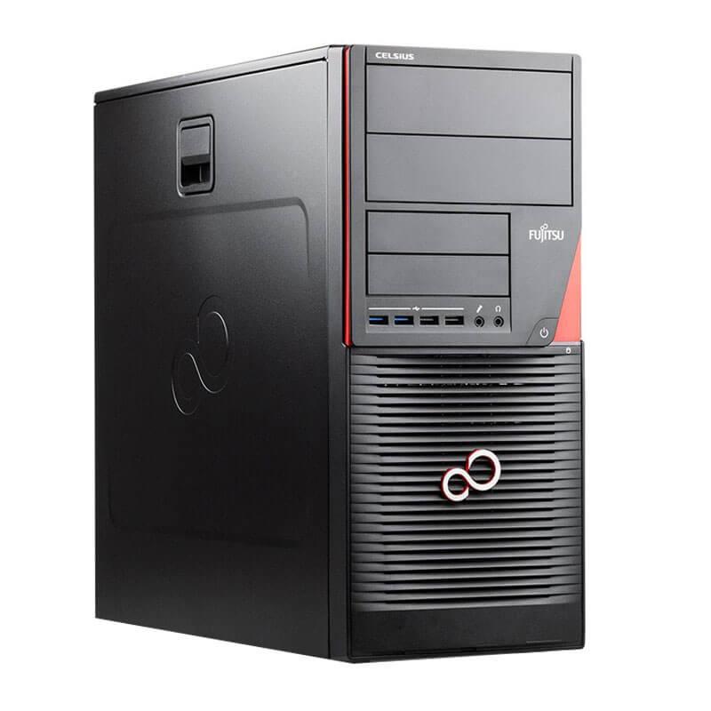 Calculatoare second hand Fujitsu CELSIUS W550, Quad Core i7-6700, SSD, AMD FirePro W2100 2GB