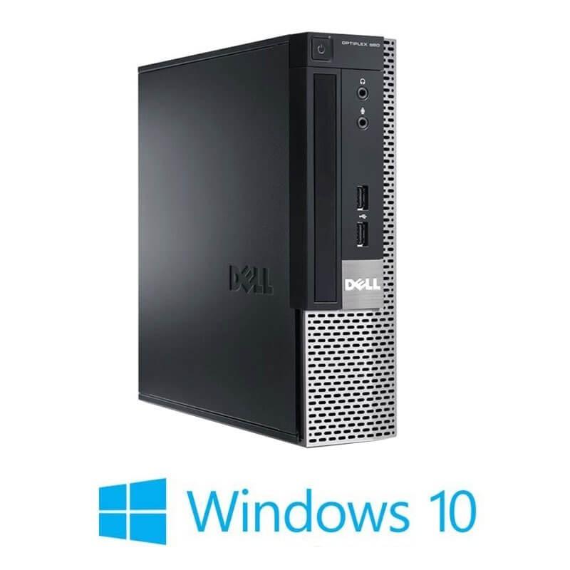 Calculator Dell OptiPlex 990 USFF, Quad Core i5-2500S, 128GB SSD, Win 10 Home