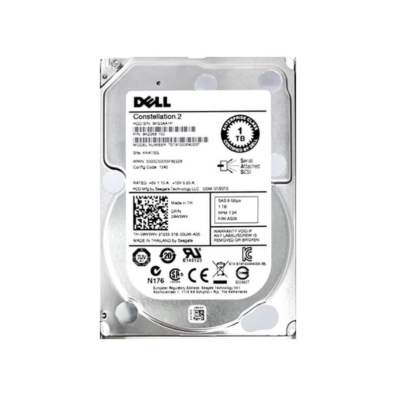 HDD Dell 9W5WV 1TB SAS 6Gbps 2.5 inch, 7.2K RPM, 64 Mb Cache
