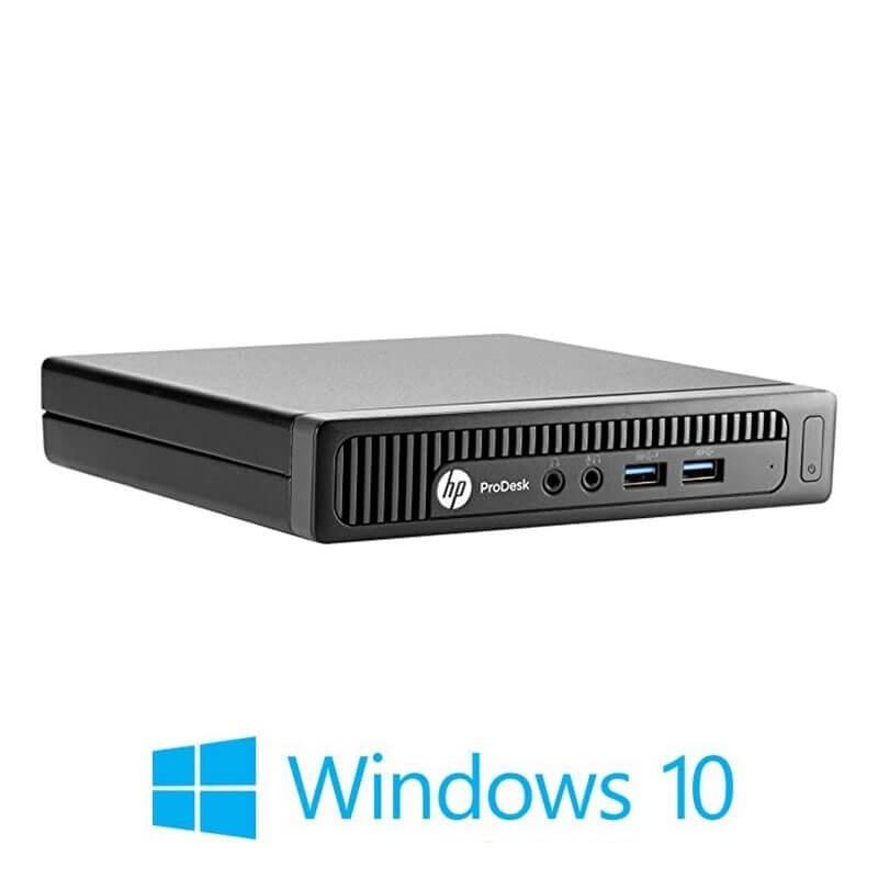 Mini Calculatoare HP ProDesk 600 G1, Quad Core i5-4570T, Windows 10 Home
